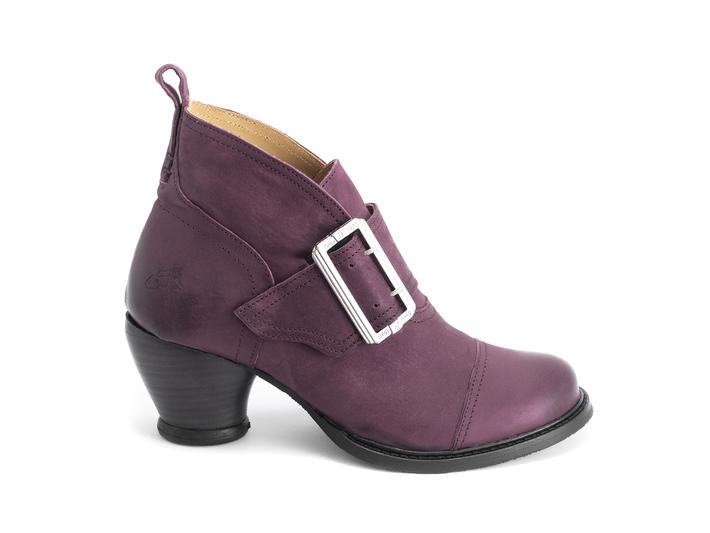 Porter Purple Buckled ankle boot
