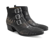 Jack: Men's Gold Croc Triple strap boot