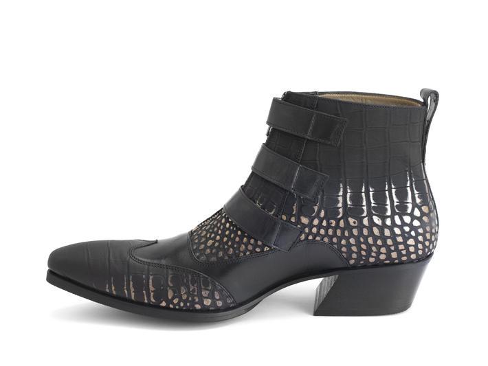 Jack: Men's Gold Croc Triple strap boot