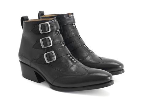 Jack: Women's black Triple strap boot
