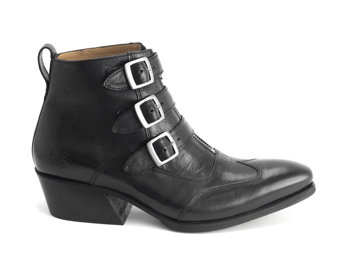 Jack: Women's black Triple strap boot