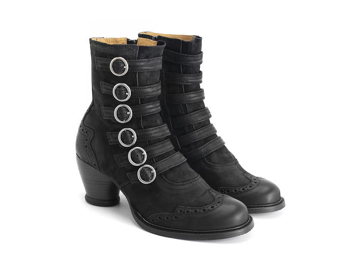 Woodland - Black   Strappy ankle boot
