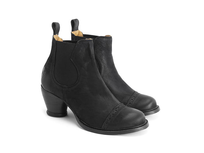 Odlum Black Brogued chelsea boot