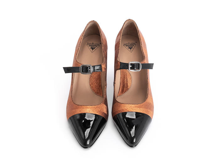 Shiloh Copper elegant mary jane heel