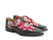 Master Red Floral Jacquard Ornate derby shoe