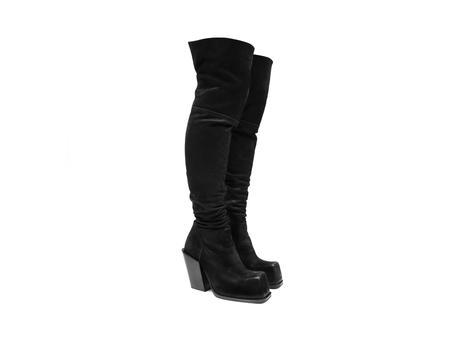 Stormy Black Thigh high boot