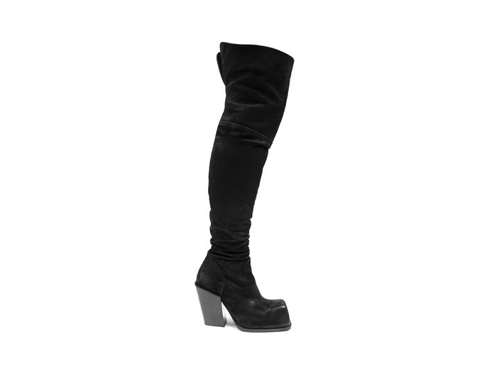 Stormy Black Thigh high boot
