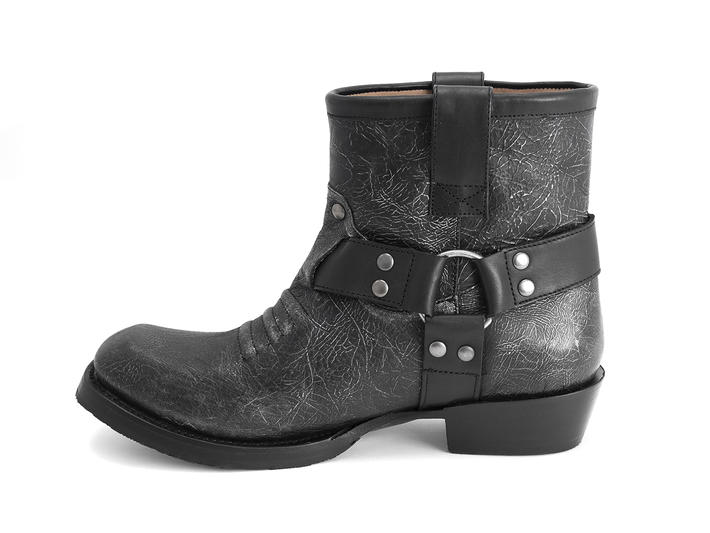 Leeds Pewter Ankle boot with harness