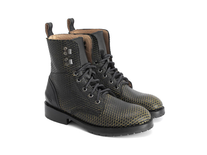 Blake Black/Yellow Casual Lace-up Boot