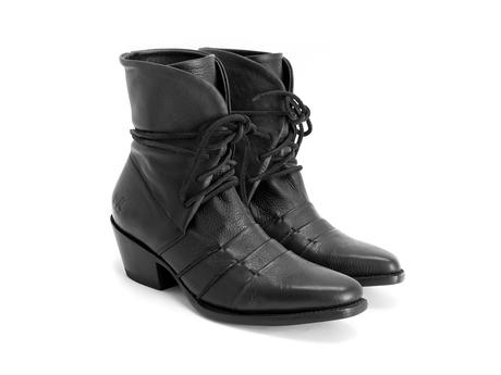 Luana Black Lace-up ankle boot
