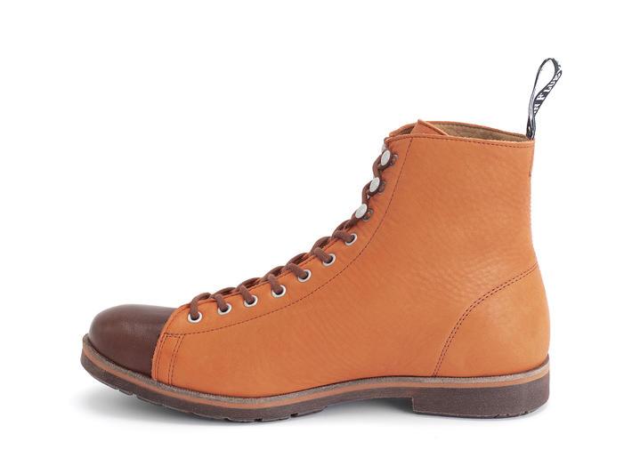 Phil Orange Botte lacée moderne
