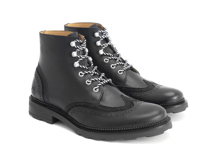 Jonah Black Brogued lace-up boot
