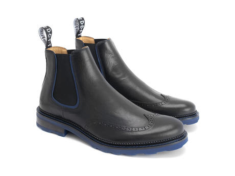 Zedkiel Black Brogued chelsea boot