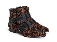 Sutton: Women's Cheetah Skull buckle boot