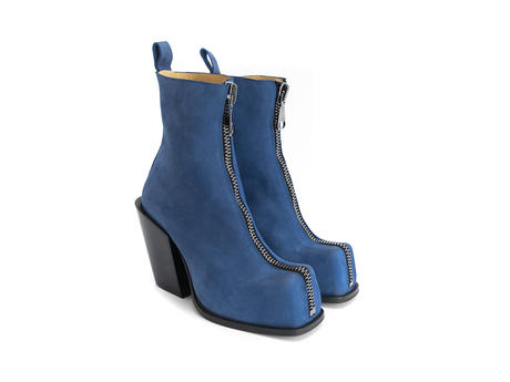 Judd Blue Platform boot with front zip