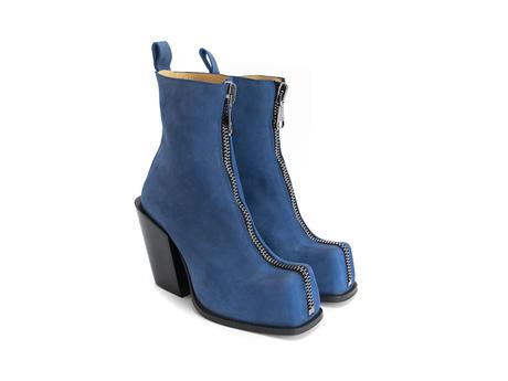 Judd Blue Platform boot with front zip