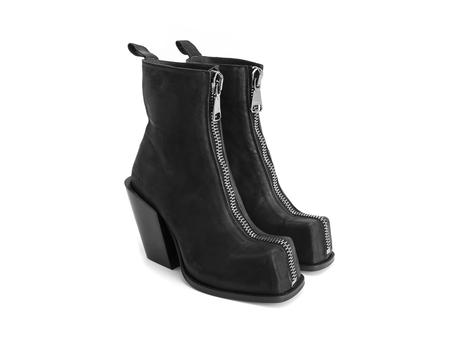 Judd Black Platform boot with front zip