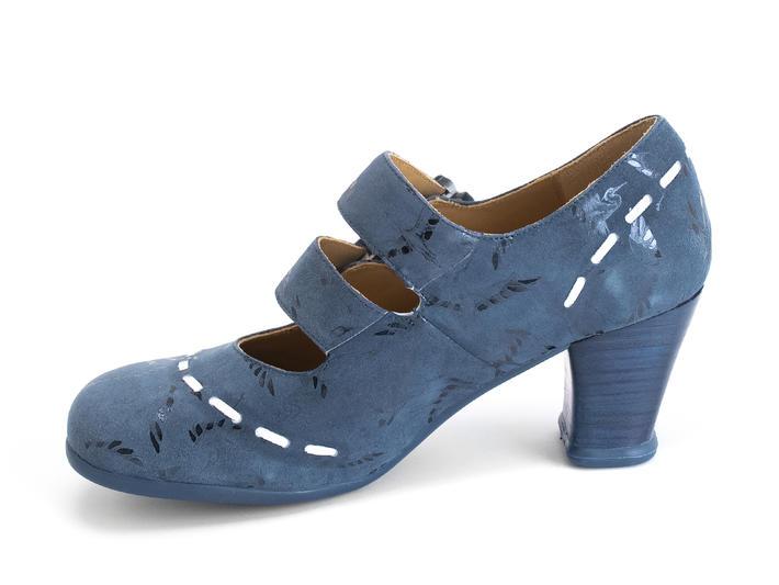 Cavalieri Blue/Birds Double strap mary jane