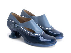 Achiever Blue Buckled shoe with stitching