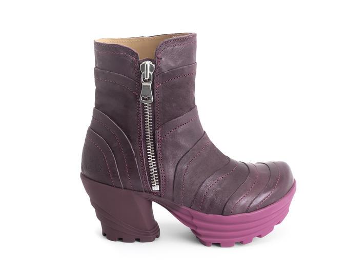 Mento Pink/Burgundy Platform ankle boot