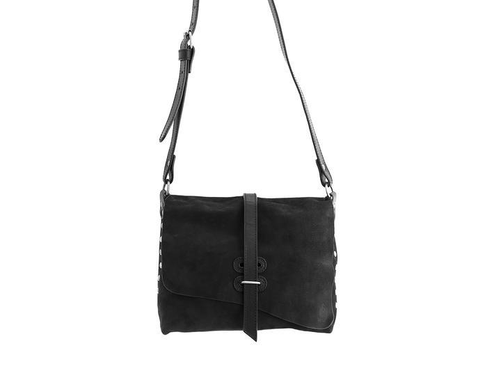 Donna Black Leather crossbody bag