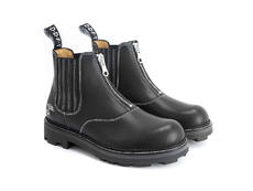 Guy Black Chelsea boot with zip