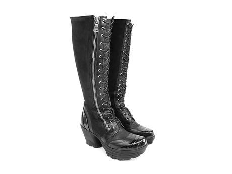 Jazzy Black Tall platform lace-up