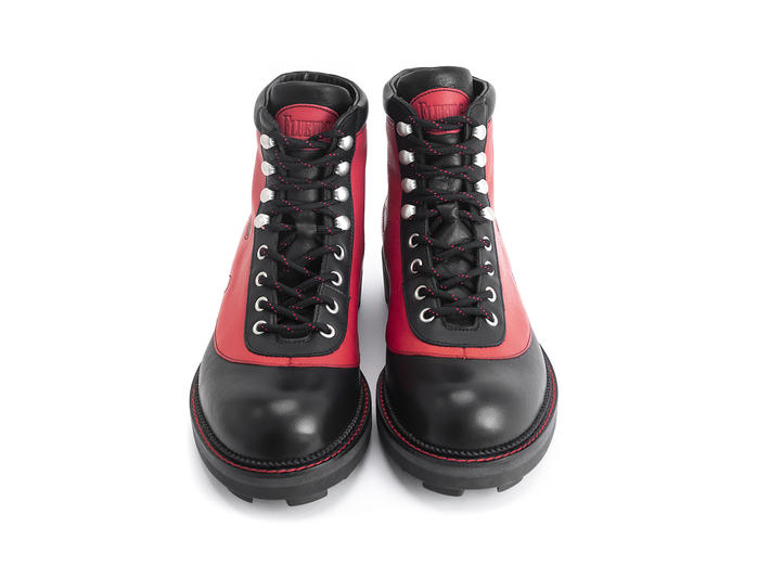 Pyro Black/Red Boot with flames