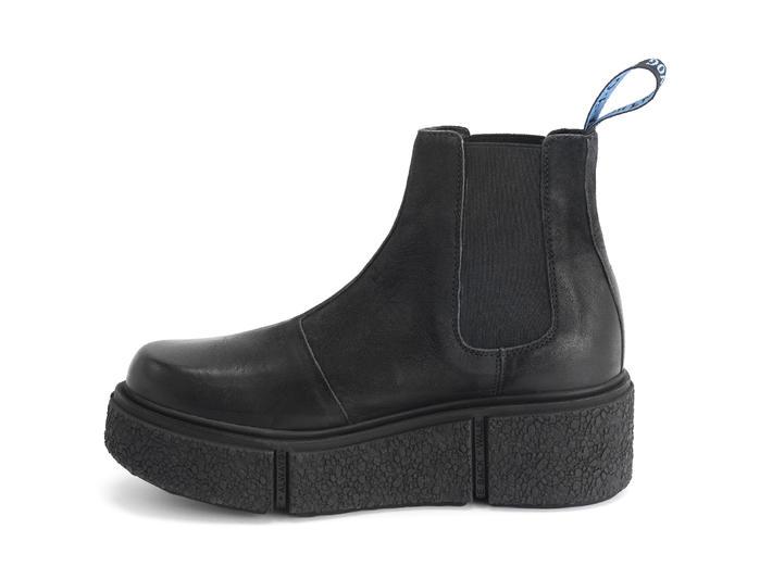 Piccolomini Black Platform chelsea boot