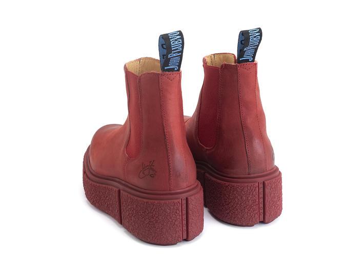 Piccolomini Red Platform chelsea boot