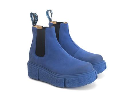 Piccolomini Blue Platform chelsea boot