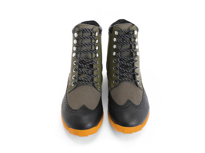 Halos Army Green Vegan lace-up boot