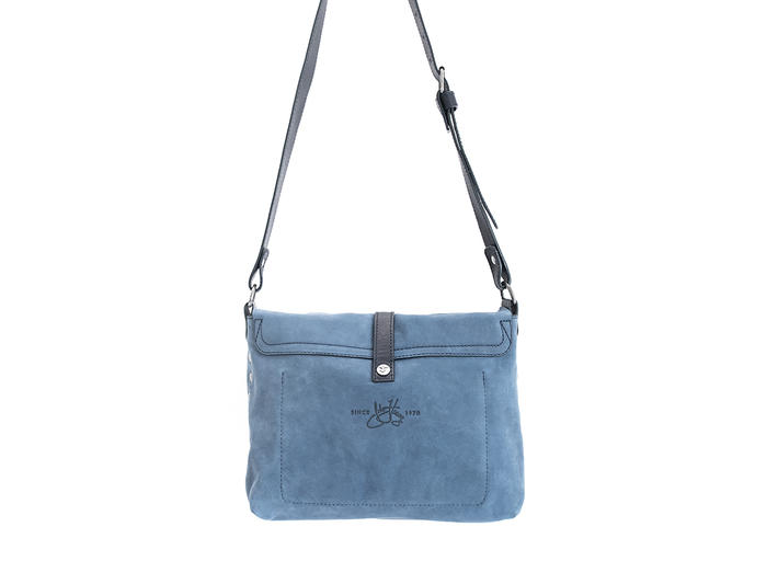 Donna Blue Leather crossbody bag