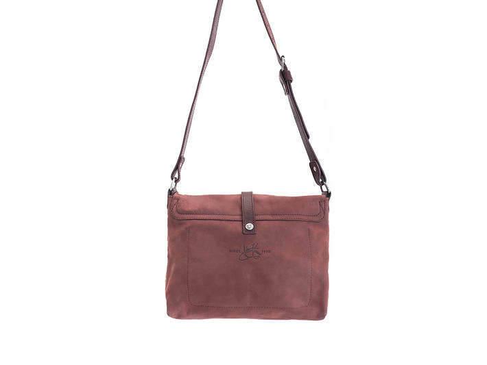 Donna Burgundy Leather crossbody bag