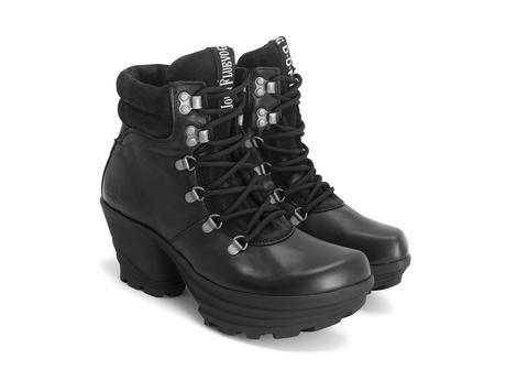 Soft Rock Black Lace-up platform boot