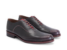 61 William St Dark Purple Simple brogued oxford