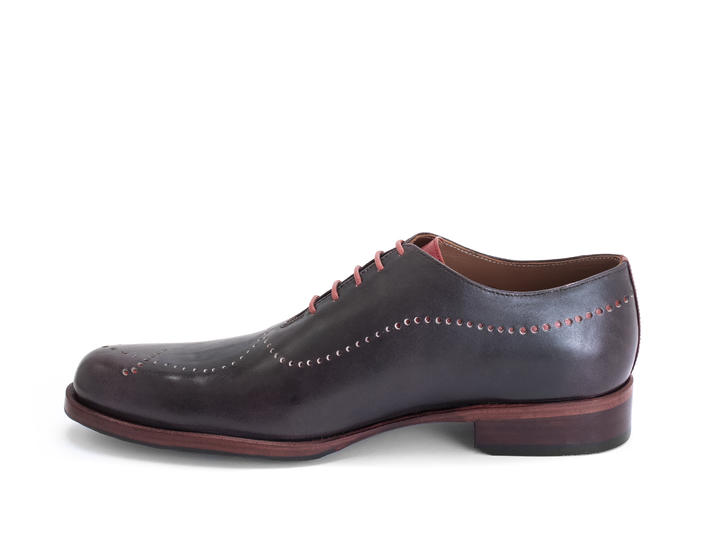 61 William St Purple Simple brogued oxford