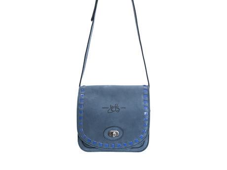 Valerie bag Blue Small leather satchel