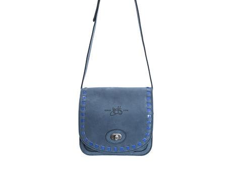 Valerie bag Blue Small leather satchel