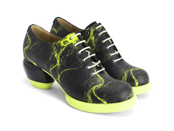 Waymouth Neon Yellow Lace-up shoe