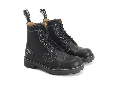 Derby Swirl (6 Oeillets) Black Classic Derby Boot