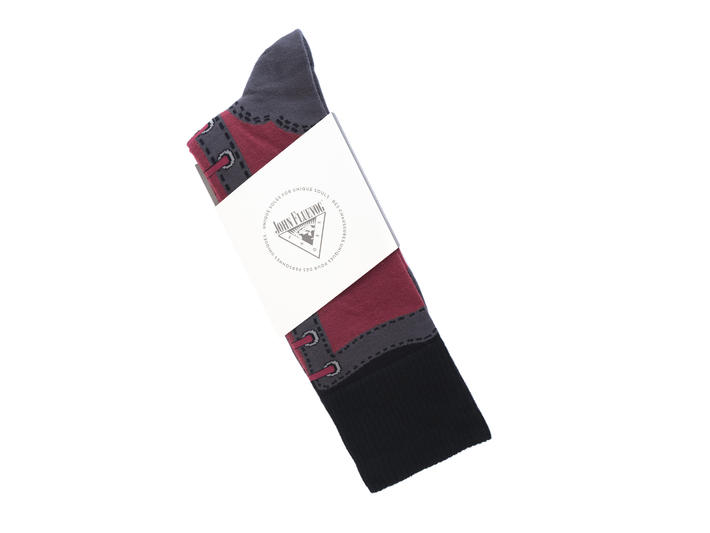 Derby Swirl Vog Socks Burgundy Knitted Angel sock