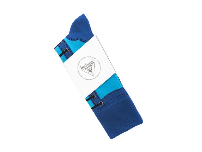 Derby Swirl Vog Socks Blue Knitted Angel sock