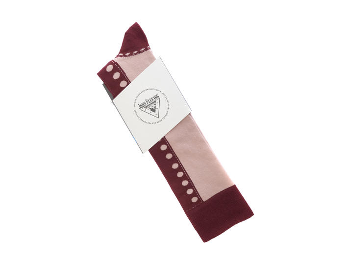 Babycake Vog Socks Pink/Burgundy Patterned knee sock