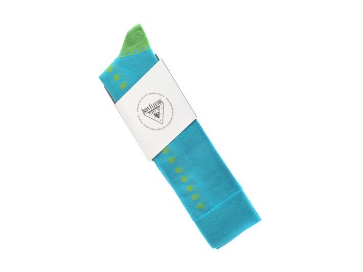 Babycake Vog Socks Teal/Green Patterned knee sock