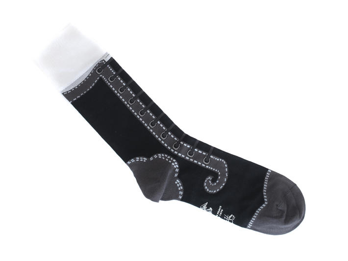 Derby Swirl Vog Socks Black Knitted Angel sock