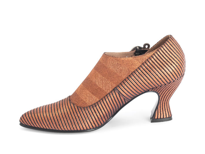 Darla Copper Buckled leather heel