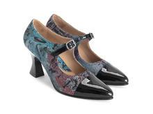 Shiloh JF Tapestry elegant mary jane heel