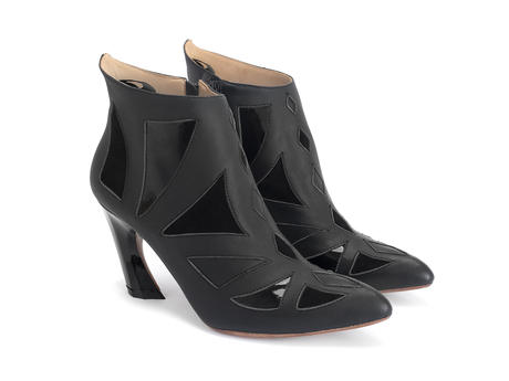 Waltz Black Geometric ankle boot