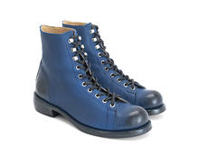 Ricard Blue Lace-up ankle boot